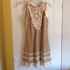 ModCloth Dresses & Skirts - Modcloth lace tunic mini dress small
