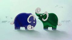 "Van Cleef & Arpels presents its new High Jewellery collection – ""L'Arche de Noé racontée par Van Cleef & Arpels"" – during the month of September with an exhibition open to the public and free at the Hotel d'Evreux. Elephants"