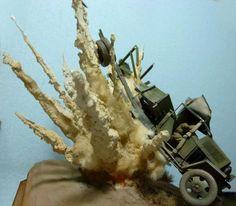 Explosion   #Scale_model 1/35 #diorama
