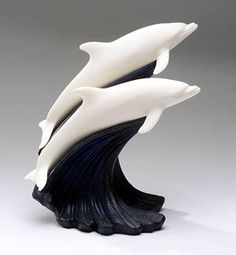 clay dolphin sculptures - Google Search