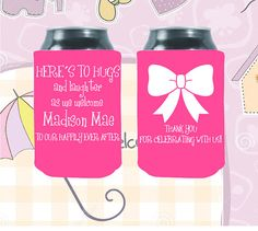 803 Best Can Coolie Ideas Images Personalized Wedding Favors Baby