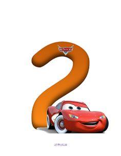 Alfabeto de Cars con Minúsculas y Números.   Oh my Alfabetos!