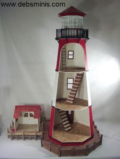 """Point Luck""  Custom lighthouse, pier and storage shed."