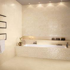 Piastrelle bagno che riproducono l'effetto del marmo. Collezione RE.SI.DE. by Ceramiche Supergres    #piastrellebagno #rivestimentobagno