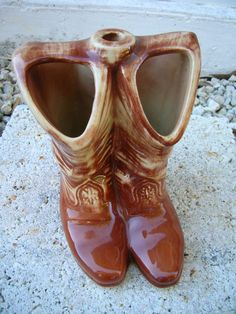 McCoy Pottery Cowboy Boots Lamp Base / Western Decor by TillyFritz, $74.99