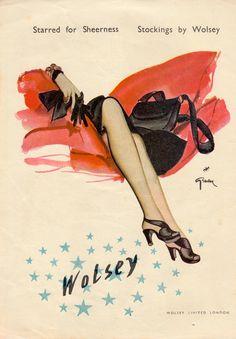 STOCKINGS BY WOLSEY ad Jan 1947 MY HOME U.K magazine. (minkshmink)