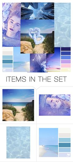 """""""Blue & Purple Mood Board"""" by calibeachlyfe ❤ liked on Polyvore featuring art"""