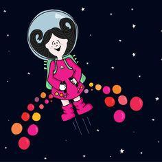 Lux hawaiana!   #lux #muñeca #pink #doll #espacio #space #astronauta #astronaut #cielo #sky #ilustration #ilustracion ver mas en FB: lux la muñeca