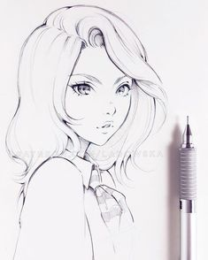 Новости dibujo çizim fikirleri, çizimler y çizim referansı. Pencil Drawings Of Girls, Anime Drawings Sketches, Anime Sketch, Cartoon Drawings, Cute Drawings, Hipster Drawings, Manga Girl Drawing, Pretty Girl Drawing, Girl Hair Drawing