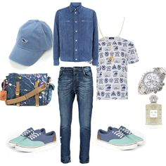 Blue Days by nattysupplyco on Polyvore featuring Polo Ralph Lauren, Rolex, ASOS, Stefano Ricci and Creed