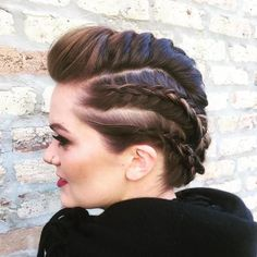 Mohawk Braids For Shorter Hair