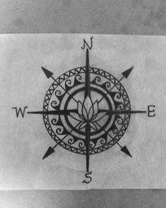 Simple compass tattoo 21