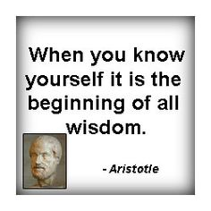 Who knew Aristotle started the self awareness movement?