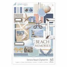Serene Beach Digital Scrapbooking Kit