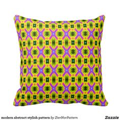modern abstract stylish pattern throw pillows