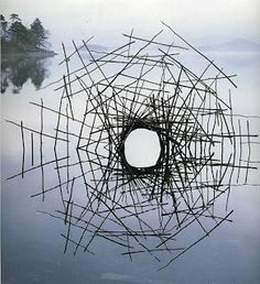 """Screen séries"" By Andy Goldsworthy, a British sculptor, photographer and environmentalist producing site-specific sculpture and land art situated in natural and urban settings."