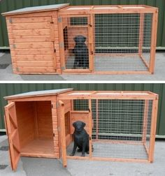 Wooden Dog Kennels And Runs   The Kimberly Dog Kennel and Run Image 1