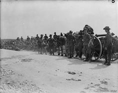 2nd Australian Division on the way to take part in the Battle of Pozieres, 16 July 1916