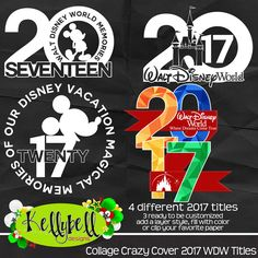 Collage Crazy Cover 2017 WDW Titles