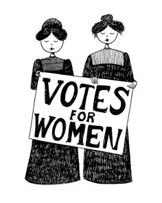 Votes for women // 4x6 suffragette feminist art by flapperdoodle, $5.00