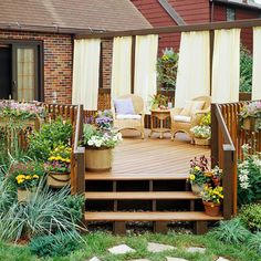 Add privacy to your deck with these stylish and trendy ideas. These ideas will give you the added privacy you want and keep your deck looking amazing. Try these ideas that are cozy and perfect for any deck.