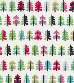 Holiday Inspirations™ Christmas Fabric-Colorful Mini Trees