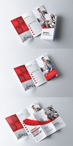 Business Trifold Brochure Template. Medical Infographic