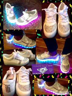 a0caf7f5b7f3 BLING LED shoes by TouchoHoney on Etsy Burning Man