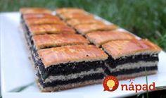 Skladaný makový koláč s kyslou smotanou: Dlho hľadaný starý recept, tromfne aj kysnutý závin – kto má rád mak, ten si ho nebude vedieť vynachváliť!