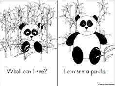"This is an original Kindergarten panda mini-book available on Madebyteachers.com. Students practice reading the ""I can"" sentences. {freebie}"