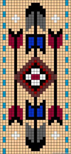 off loom beading techniques Seed Bead Patterns, Peyote Patterns, Beading Patterns, Cross Stitch Patterns, Native Beadwork, Native American Beadwork, Loom Bands, Native American Patterns, Motifs Perler