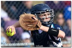 Lake City Softball catcher fires to first base