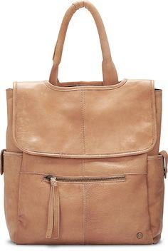 Rucksack aus beigem Leder von Cox.