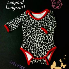 Leopard kids bodysuit, wild animal print kids bodysuit, custom bodysuit handmade by SIBLINGS on Etsy