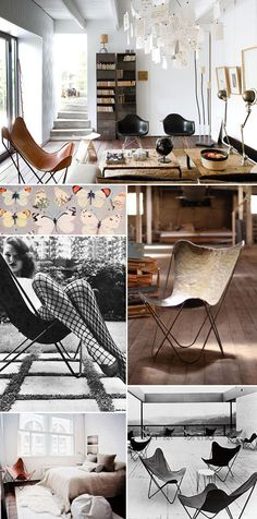 Living Room, Leather Butterfly Chairs Sfgirlbybay / Bohemian Modern Style  From A San Francisco Girl