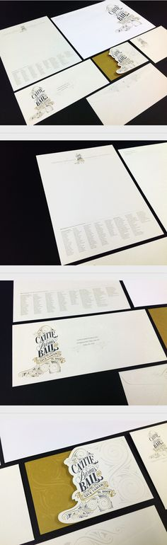 Cattle Baron's Ball Stationery and Collateral on Behance