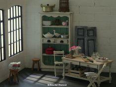 Handmade Dollhouse Furniture Kitchen Kitchen por KikuchiForest