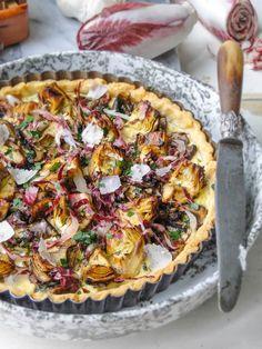 Make Artichoke, Mushroom, and Parmesan Tart with this easy recipe.