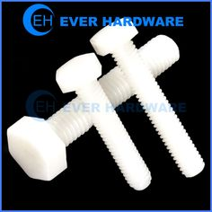 Nylon Hex Bolts Plastic Hexagon Product White Cap Screws Insulated