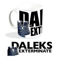 Taza Doctor Who. Dalek exterminate