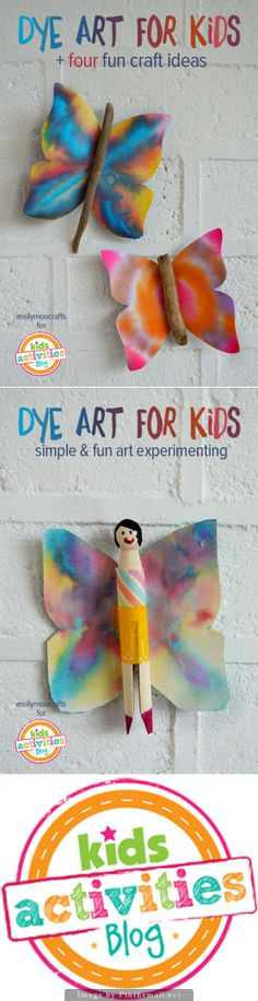 Dye Art Projects For Kids Without The Mess  Paper dye art experimenting is such a simple and fun technique for kids to create beautiful designs on paper – and it's relatively mess free. Suitable for kids age 5 this activity combines art, simple science, learning and craft. All you need to create are some felt tip markers, coffee filters (chinese paper is the ultimate if you ever come across it in craft shops, paper towels don't work – they just absorb, the dye doesn't spread) and a spray…