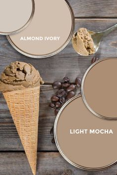 What paint colors are the best fit for Almond Ivory and Mocha (or other summer neutrals)? Some ideas.... #decor #interiordesign #homedecor #masterbedroom #lightmocha #almondivory #paint #icecream
