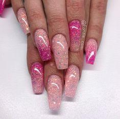 Baby Pink Glitter Nails - Nailpro