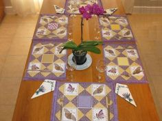 Aljay Mini Set Butterfly Patchwork Placemats