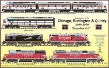 CB&Q BURLINGTON ROUTE LOCOMOTIVE POSTER
