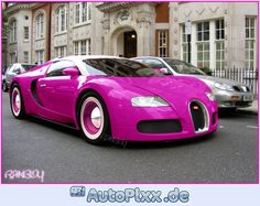 Hot Pink Bugatti. Gear heads hate it, but me want now.