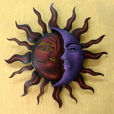 Hand Painted Steel Romantic Duality Wall Art (Mexico)