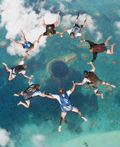 Parachuting over the Blue Hole!