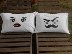 The Grouch Eyes and The Pretty Eyes Hand Painted by TreasuresShop, $28.00