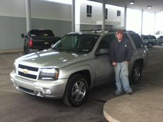 A fantastic Friday shout-out to DAVE YOKAVONIS on the purchase of this great 2008 Chevy Trailblazer! Thanks and congrats! Dave Grabinski, sales consultant.